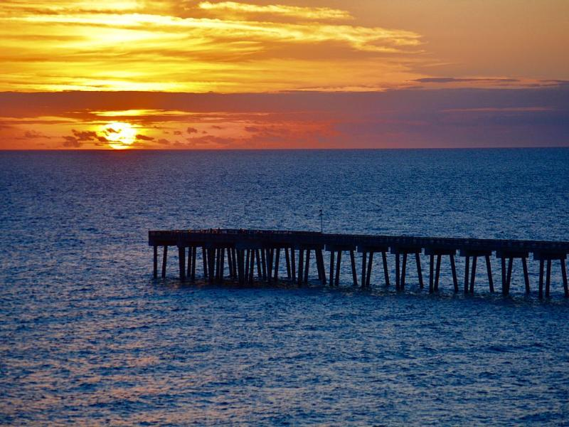 Sunset view from our balcony-Priceless! - Owner Managed-Oceanfront-Beach Chairs Included! - Panama City Beach - rentals