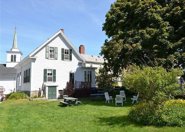 Exterior from Large Back Yard - The Robert House: 4 bedroom Rockport village house, sleeps 7 - Rockport - rentals
