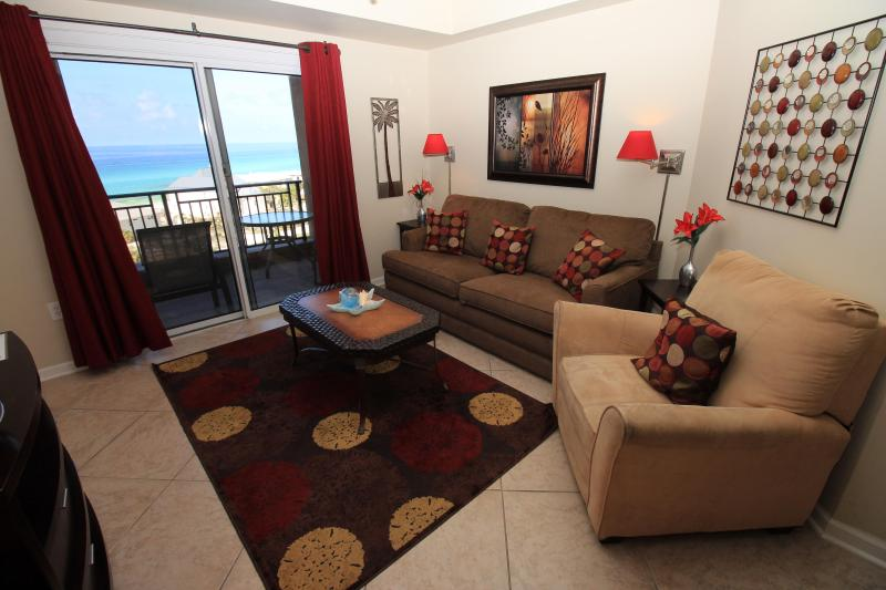 Wonderful beach view from living room - 7th floor w/2 kings! 5 condos to choose from! - Destin - rentals