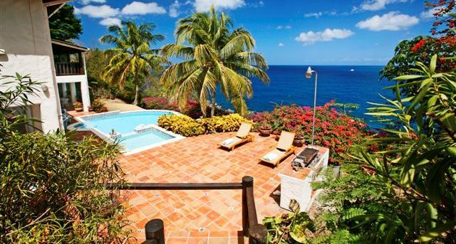 Cliff side villa with lovely sea views. - Image 1 - Saint Lucia - rentals