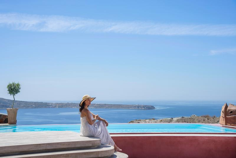 """Relaxation, luxury and pleasure. Spoil yourself at a private swimming pool. - """"SWINGING SUNSET"""" villa  Private Pool & Spa - Oia - rentals"""