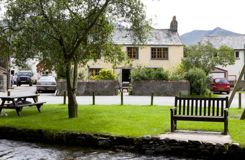 Brook  House (1) Cottage from across the stream - Village cottage, log fire,stream,ducks-BrookHouse1 - Keswick - rentals