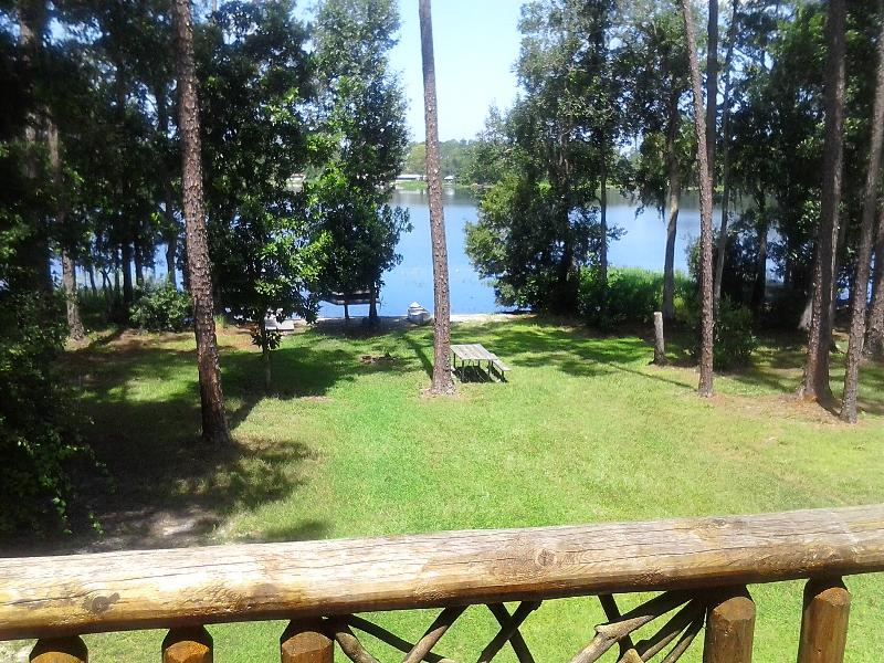 View of Lakefront from upstairs balcony - GAINESVILLE AREA LAKE HOME ( RILEY LAKE) - Hawthorne - rentals