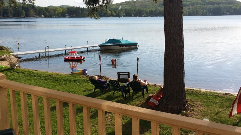 View from porch - Water front,sandy beach home. Perfect for kids! - Shapleigh - rentals