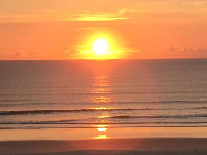Sunrise picture  taken from our oceanfront balcony. - Spectacular Condo Spectacular Ocean and ICW Views - Saint Augustine - rentals