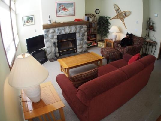 livimg room - Alpine Greens Condos - 03 - Sun Peaks - rentals
