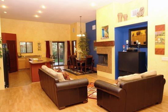 Living/dinning  Kitchen view - Rincon Villa - Tucson - rentals