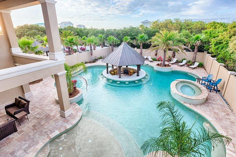 Luxury Private Pool with Gazebo Bar - 20% OFF MARCH: Luxury Gulf View, Game Rm, Pool/Spa - Destin - rentals