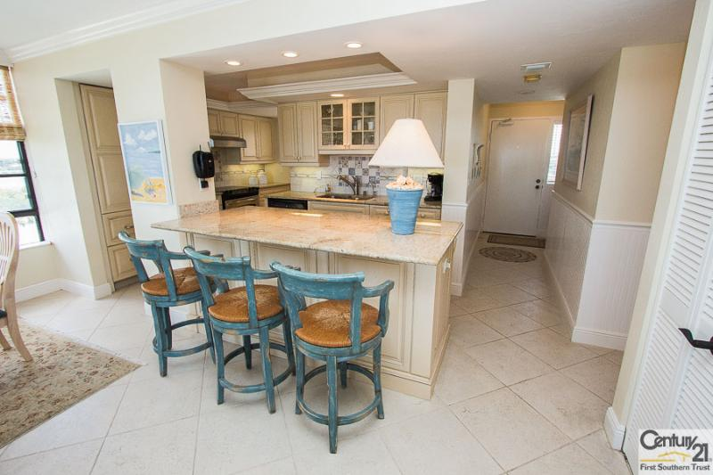 Kitchen and Breakfast Bar - SST3-703 - South Seas Towers - Marco Island - rentals