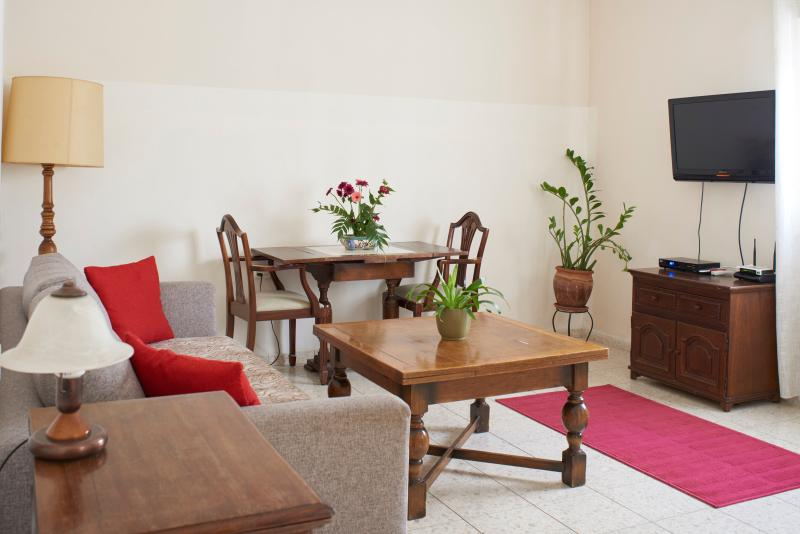 The living room with special furnisher - Ariela's Place -2BR Apt Surrounded w / Gardens - Jerusalem - rentals