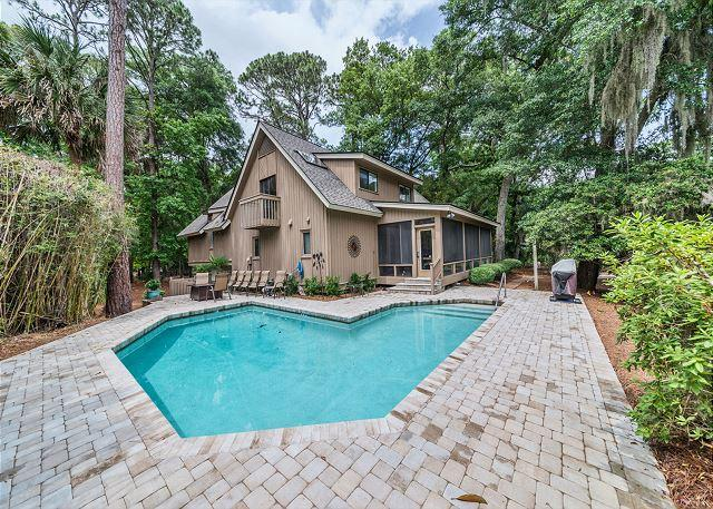 Great Vacation Home with Private Pool - North Sea Pines Drive 23, 4 Bedroom, Private Pool, Near Beach, Sleeps 12 - Sea Pines - rentals