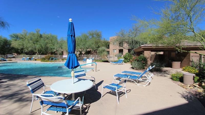 Pool is heated year round.  Located just one building away. - Steps to Westworld-Heated Pool--Huge Two Bedroom - Scottsdale - rentals