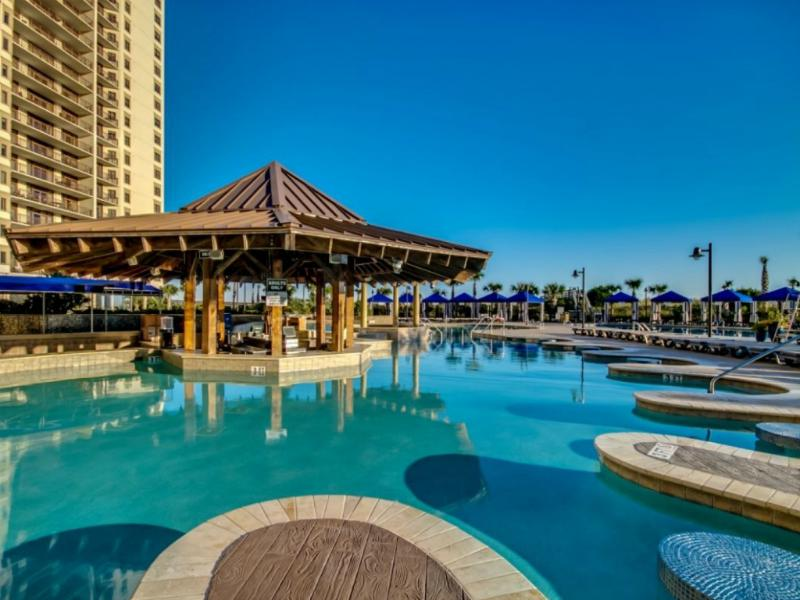 North Beach Outdoor Pool & Pool Bar - North Beach 213 - Luxury Oceanfront! - North Myrtle Beach - rentals