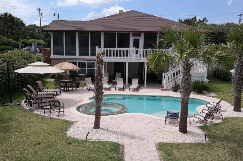 Ocean side of house - Ocean Front Home Myrtle Beach Golden Mile - Myrtle Beach - rentals