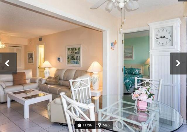 View of the living room from the enclosed lanai - Sunny Siesta Key - Siesta Key - rentals