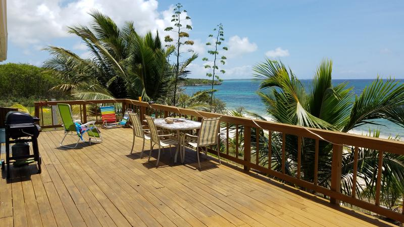 Awesome view fron the Deck! - The Hideaway - Bahamas Private Beach Front Home - Cat Island - rentals