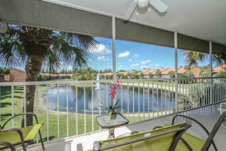Amazing water feature/fountain views from private screened lanai of this 2nd floor condo! - Falling Waters- 2BR/2BA; Largest Resort Style Swimming Pool in Naples! - Naples - rentals