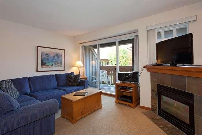This cute condo features a snug, cozy living area - Whistler Stoney Creek Sunpath 2 Bedroom Condo - Whistler - rentals