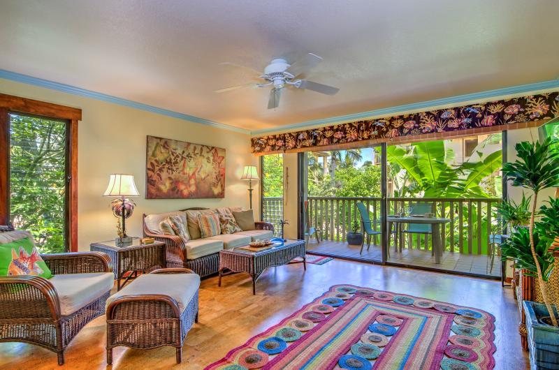Living Room - Waikomo Stream Villas 223 - Poipu - rentals