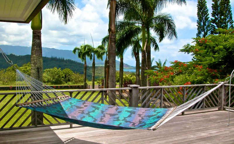 Stunning Views Of Hanalei Bay From Your Upstairs Lanai - Estate WIth Pool, Hot Tub, Ocean & Sunset Views - Princeville - rentals