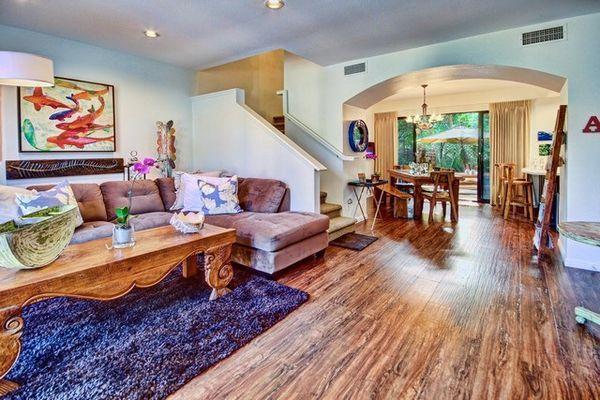 spacious and comfy living room! - No Ka Oi Hale #14 - near Napili bay, w/ AC, Wifi, BBQ! Good for 6- 8 guests! - Lahaina - rentals