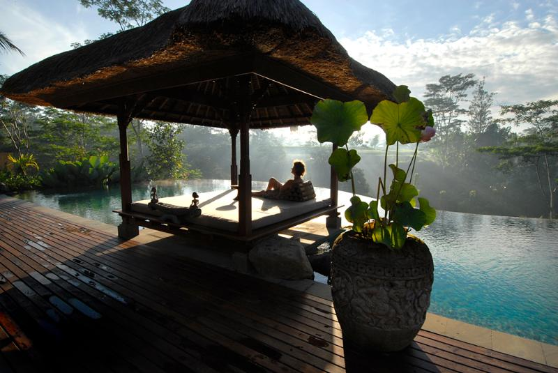 The pool in the morning  - Villa Bayad, Stunning,luxurious,private 4 bedrooms - Ubud - rentals