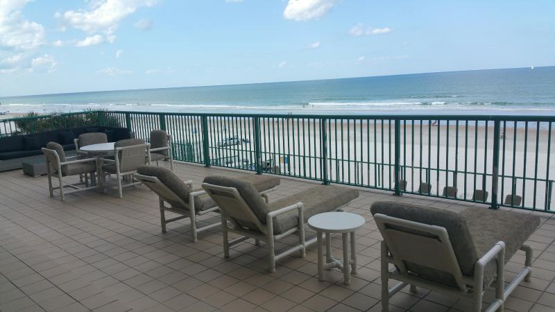 Huge 500 Square foot direct oceanfront private balcony - BRAND NEW 2nd Floor Luxurious Oceanfront Condo - Daytona Beach - rentals
