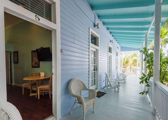 Just steps from famous Duval Street is your entrance to your home  - Duval Corner - Cute Condo In Perfect Location Just Off Duval. Great Balcony! - Key West - rentals