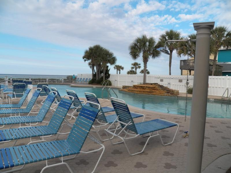 Pool deck with two pools and kiddie pool - Beach front, free beach service, no booking fees! - Panama City Beach - rentals