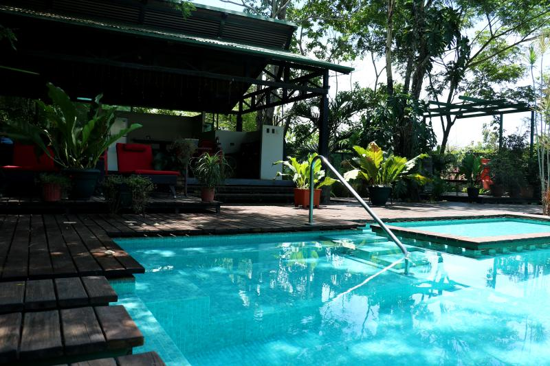 Our pool is surrounded by the flora and fauna of the area. - ZumaLoft - Montezuma - rentals