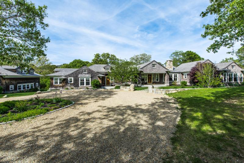 Entrance of Home, Waterfront on Great Pond - BRANR - Chilmark Contemporary Waterfront, Enjoy Quansoo Private Association - West Tisbury - rentals