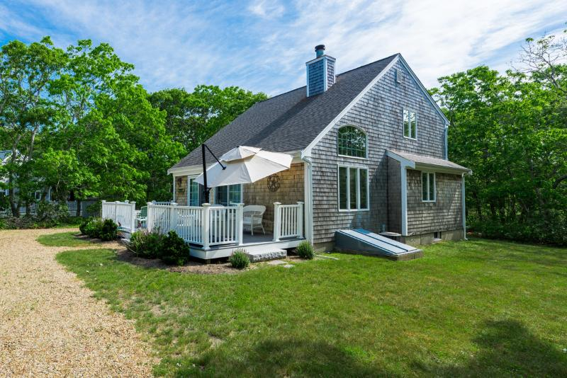Front of House and Deck - POHOD - Eagles Nest, Set on a Quiet Cul-de-Sac, Large Deck, Central A/C, WiFi - Edgartown - rentals