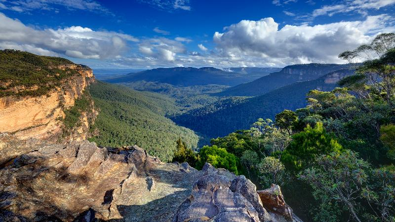 View from the top of Wentworth Falls ... copyright: Phil Young Photographs - Poet's Cottage - Blue Mountains Tranquility - Wentworth Falls - rentals