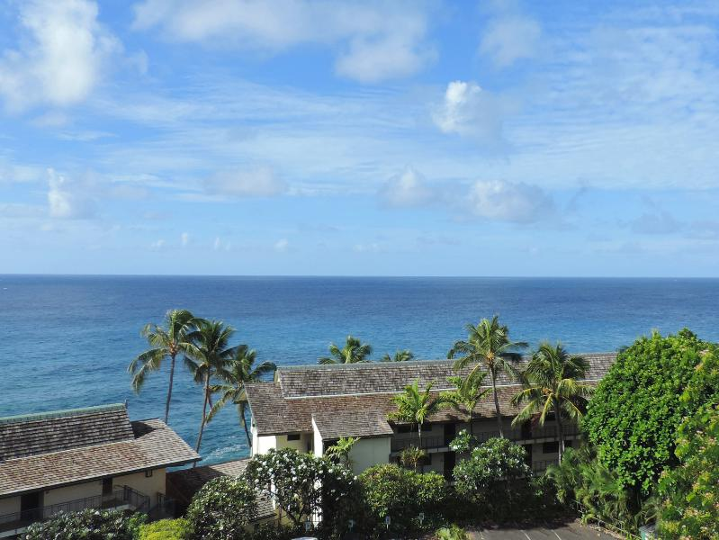When we say oceanview, you don't have to lean way over the lanai and peek through the trees. - Expansive ocean/sunset views 2BR Sunset Kahili 408 - Koloa - rentals