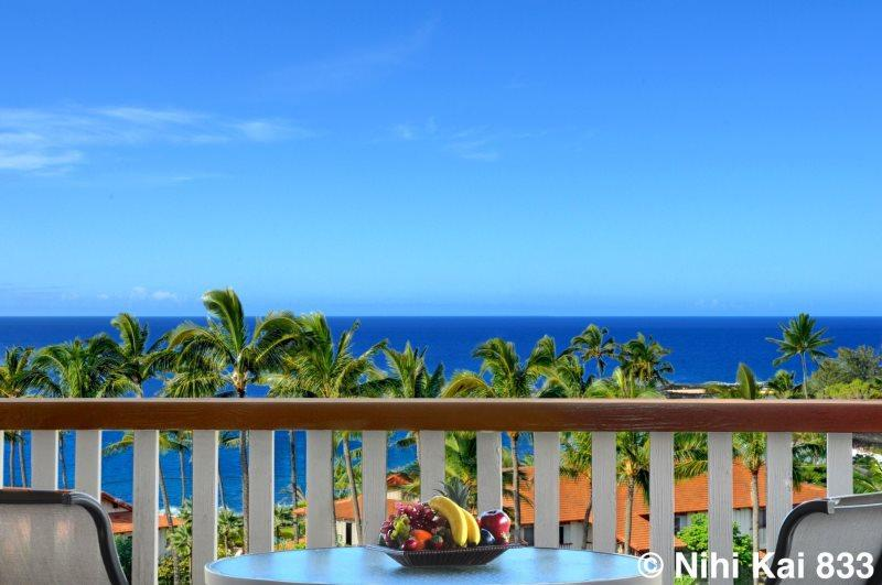 View from Nihi Kai 833's Lanai. - Nihi Kai 833 Superior ocean and mountain views from this beautiful 2bed/2bath condo. Free car with stays 7 nts or more* - Poipu - rentals