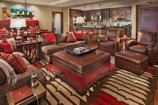 Living Room - Slopeside! One Steamboat Place - Emerald Mtn - Steamboat Springs - rentals
