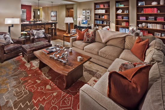 Living Room - One Steamboat Place - Buffalo Pass #409: Ski-in/ski-out Luxury - Steamboat Springs - rentals