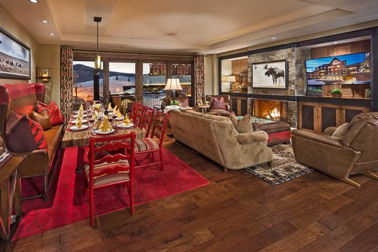 Living Room - One Steamboat Place - Guadalupe Mountain - Ski-in/Ski-out Luxury - Steamboat Springs - rentals