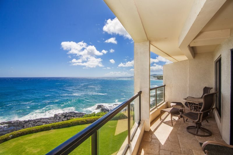 Lanai on the Ocean Front - Poipu Shores 304A Gorgeous  oceanfront 2 bed/2 bath with FREE mid-size car - Poipu - rentals