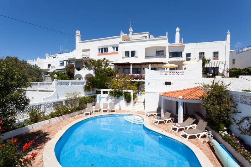 View of villa from private backyard - Spectacular Beach View Villa-Walk to Beach - Albufeira - rentals