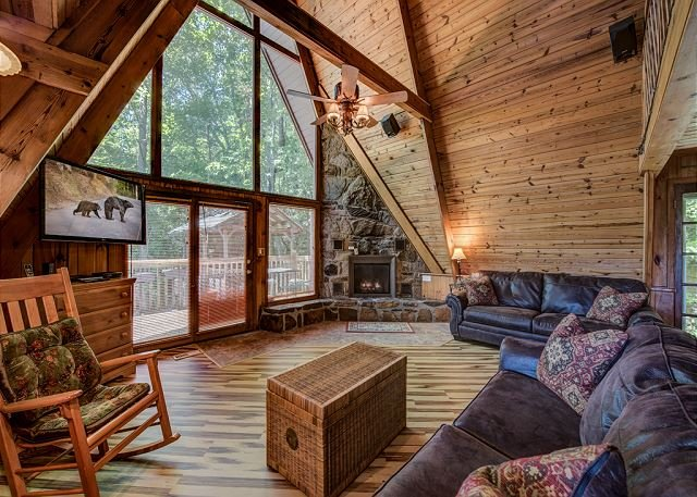 Roomy With A Peaceful View - A-Frame of Mind - Gatlinburg - rentals