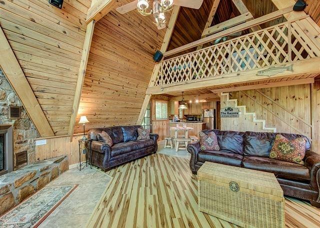 Cozy Interior - A-Frame of Mind - Gatlinburg - rentals