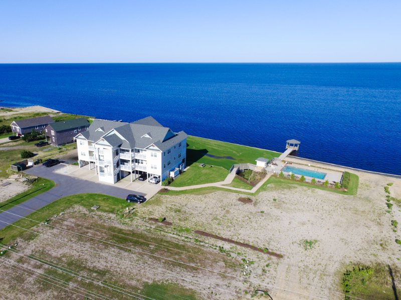 endless water views at Rodanthe Sunset Resort - Rodanthe Sunset Resort NEW Soundfront 3BR Pool, Watersports & Endless Sunsets - Rodanthe - rentals