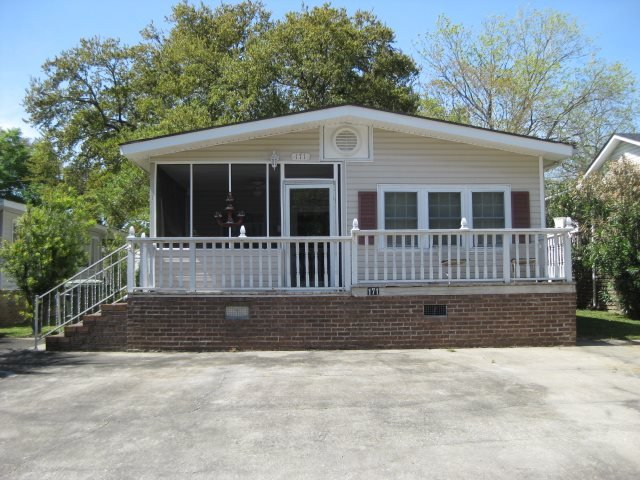 Front with deck and screened porch, parking for three cars. - Myrtle Beach Resort Home - Myrtle Beach - rentals