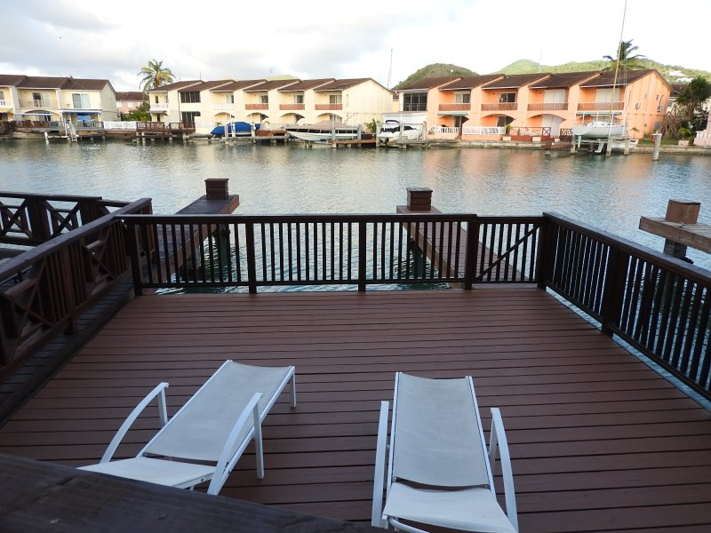 Deck  - Villa 230C, Jolly Harbour, Antigua - Jolly Harbour - rentals