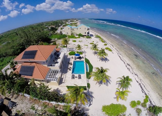 Aerial - Luxury Oceanfront Home with Infinity Pool 4BR 'In Harmony' - Bodden Town - rentals
