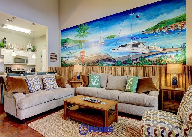 Living area - Come enjoy Beach Life in this beautiful brand new 2 bedroom Vacay property! - Corpus Christi - rentals