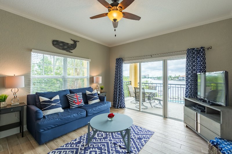 Stunning water view to compliment the nautical decor - Palms of Treasure Island with pool and water view! - Treasure Island - rentals
