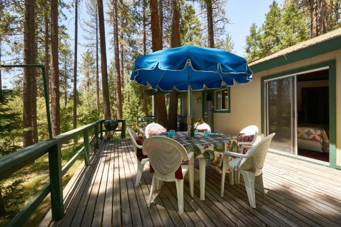 Spacious Deck with Patio Furniture & BBQ - Secluded Cozy Cottage Surrounded By Pine Trees - Idyllwild - rentals