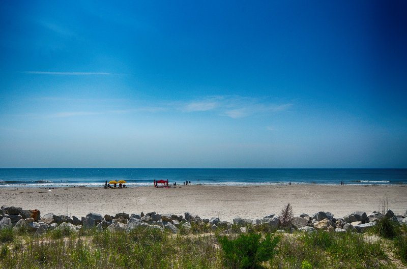 YOUR VIEW FROM 1ST FLOOR DECK - Sunskipper D3 -Salt Therapy-2 Bedrooms,Oceanfront,Pool - Carolina Beach - rentals